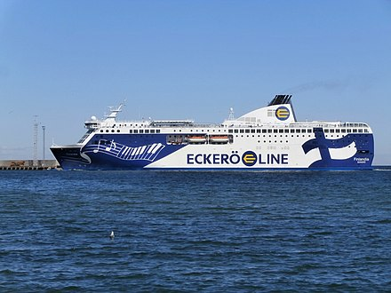 Eckero Line Finlandia, one of the Baltic Sea cruiseferries Finlandia arriving Tallinn 28 May 2015.JPG
