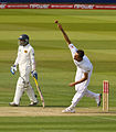 Finn bowling against Sri Lanka at Lord's, 2011.jpg