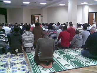 Finsbury Park Mosque - Prayers at the mosque in 2008