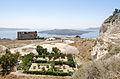 Fira - small garden - ruin - Nea Kameni - Santorini - Greece.jpg