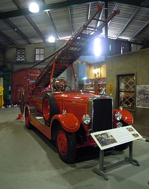 Brain Versus Brawn - The fire engine used during filming is now at Bressingham Steam and Gardens