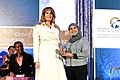 First Lady Melania Trump Poses for a Photo With 2017 International Women of Courage Awardee Fadia Najib Thabet of Yemen (32909412883).jpg