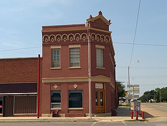 National Register of Historic Places listings in Beckham County, Oklahoma - Image: First National Bank Erick OK