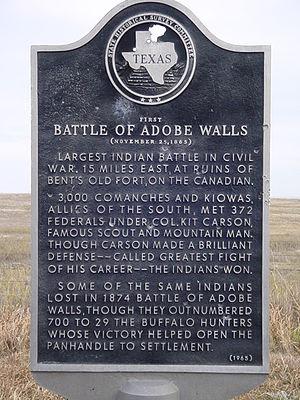 First Battle of Adobe Walls - Image: First battle of adobe walls
