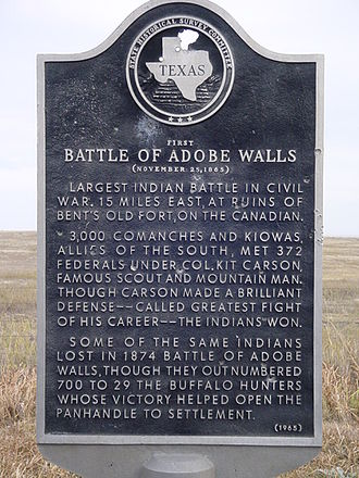 First Battle of Adobe Walls - Image: First battle of adobe walls