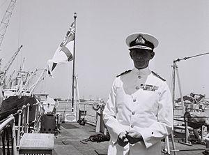 John Graham Hamilton - Admiral John Hamilton in Haifa Port, 1966