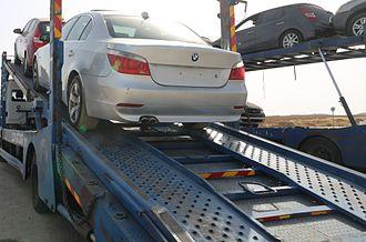 Economy of Gaza City - Shipment of luxury cars to Gaza, 2012