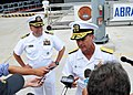 Flickr - Official U.S. Navy Imagery - A Navy officer speaks to media..jpg