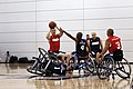 Flickr - Official U.S. Navy Imagery - A Sgt. prepares to pass the ball during a wheelchair basketball game between the Marine Corps and the Navy-Coast Guard at the 2012 Warrior Games..jpg