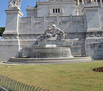 Altare della Patria - Image: Fontana dell'Adriatico Vittoriano, Roma