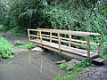 Footbridge over River Glyme Cleveley Oxfordshire - geograph.org.uk - 231056.jpg