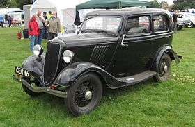 Ford 8 per British nomenclature 933cc first registered July 1937 photographed at Knebworth 2012.jpg