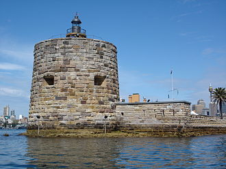Charles Lightoller - Fort Denison's Martello tower, the scene of the incident