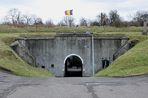 Belgium and the Franco-Prussian War - Entry to the Fort d'Évegnée near Liège built in the 1880s, following the crisis of 1870–1