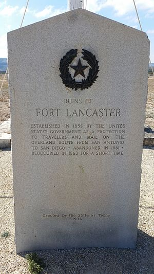 Fort Lancaster - Fort Lancaster Texas Historical Marker