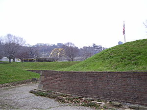 Fort Pitt Museum - Part of the excavated fort.
