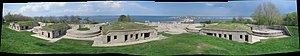 Fort Revere - Panorama of Fort Revere's fortifications.