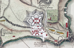 Carte de Fort Carillon, en 1758