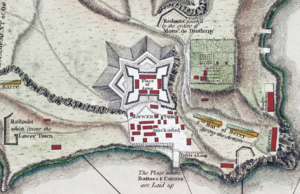 Michel Chartier de Lotbinière, Marquis de Lotbinière - Detail of a 1758 map showing the layout of Fort Carillon as designed by Lotbiniere