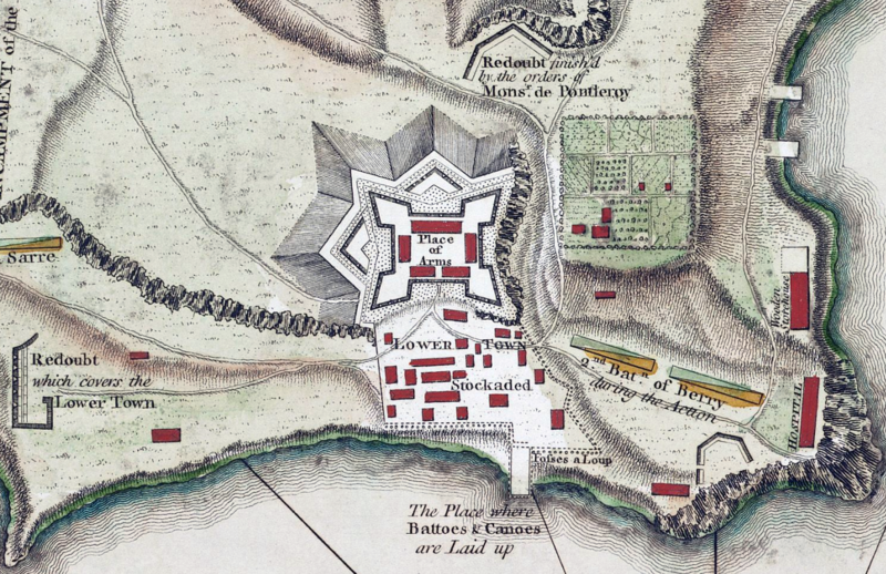 1758 Map of Fort Carillon, now Fort Ticonderoga