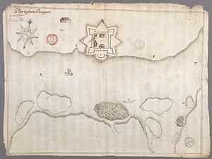 Fort Pentagouet - Fort de Pentagouët en 1670