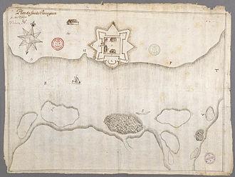 Pentagoet Archeological District - Fort Pentagoet in 1670