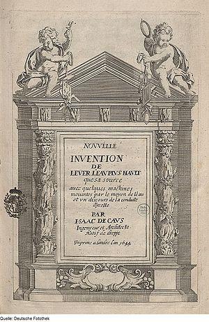 Isaac de Caus - Title page