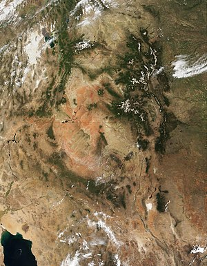 Colorado Plateau - The Four Corners region and the Colorado Plateau. Click image to see state lines.