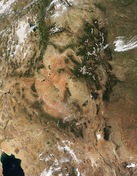 The Four Corners region and the Colorado Plateau. Click image to see state lines. Four corners.jpg
