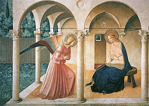 Annunciation, painted by Fra Angelico (1387-14...