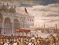 Francesco salviati e giuseppe porta detto il salviatino, Riconciliazione di papa Alessandro III e Federico Barbarossa, 1565-75, 03 palazzo ducale venezia.jpg