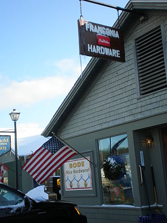 Franconia, New Hampshire - Center of town celebrating Bode Miller's 2010 Winter Olympics gold, silver and bronze medals