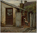 Frederick McCubbin - Girl with bird at the King Street bakery - Google Art Project.jpg