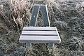 Frosted seat, Attenborough Nature Reserve - geograph.org.uk - 695373.jpg