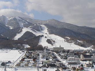 Furano, Hokkaido - Kitanomine ski area in Furano