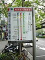 Fuxing South Road Station stop board rear, Kamalan Bus 20100915.jpg