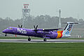 G-JECY 1 Bombardier Dash 8Q-402 FlyBe(new livery) MAN 03APR14 (13610112924).jpg