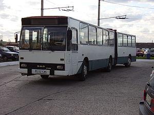 Rocar DAC - A Rocar 117UD bus in Târgu Jiu. It was built in 1996.