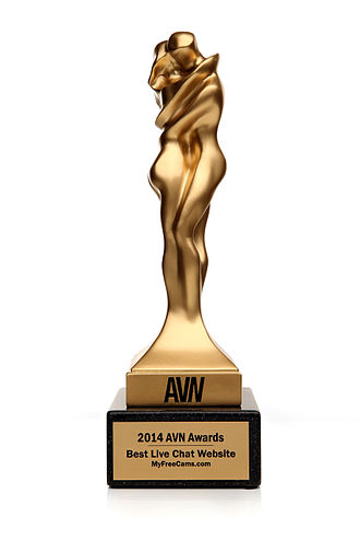 "AVN Award - The 2014 AVN Award for the category ""Best Live Chat Website"", won by MyFreeCams.com"