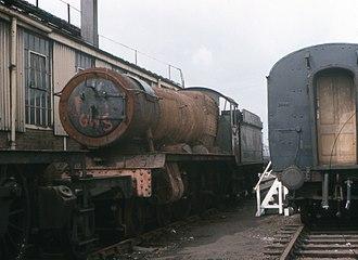 GWR 4900 Class 4942 Maindy Hall - No.4942 Maindy Hall at Didcot, awaiting restoration.