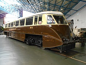 GWR railcars - Railcar No. 4, at York.