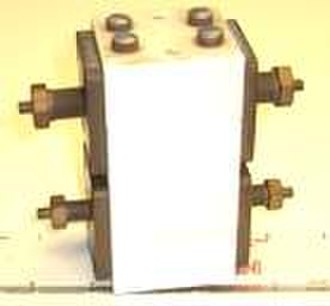 Organic semiconductor - An organic polymer voltage-controlled switch from 1974. Now in the Smithsonian Chip collection