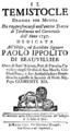 Gaetano Latilla - Temistocle - titlepage of the libretto - Rome 1737.png