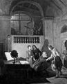 Galileo Galilei receiving John Milton. Oil painting by Annib Wellcome M0006604.jpg