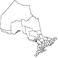 Gananoque Ontario locator map.png