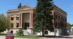 Garden County, Nebraska courthouse from SE 1.JPG
