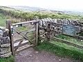 Gate at viewpoint at Steel Rigg - geograph.org.uk - 1537313.jpg