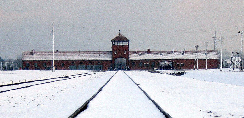 Gate of Auschwitz II, 28 November 2007 (3)