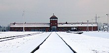 Gate of Auschwitz II, 28 November 2007 (3).jpg