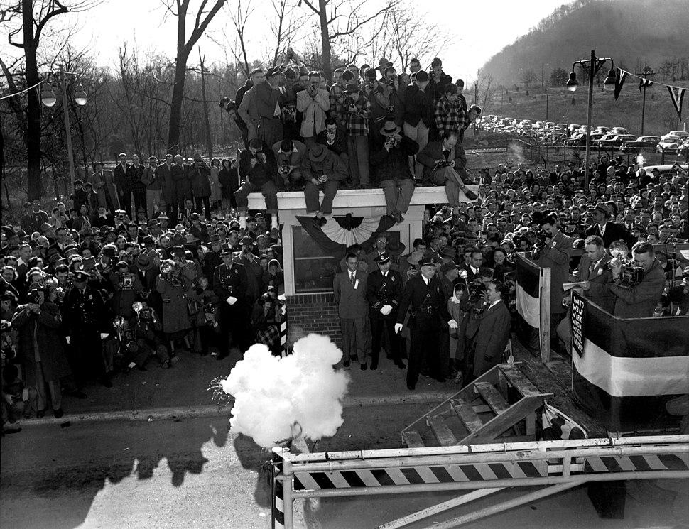 Gate opening celebration Elza Gate, Oak Ridge, Tennessee 1949